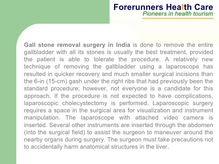 Gallbladder removal surgery cost in india
