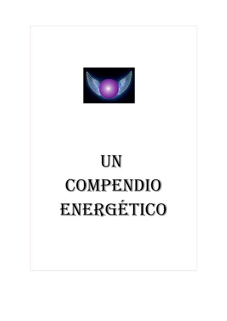 UN COMPENDIO ENERGÉTICO
