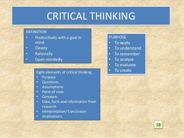 critical thinking is systematic because it The critical for any significant and systematic effects thinker should be the practice of critical thinking why because all these factors would.