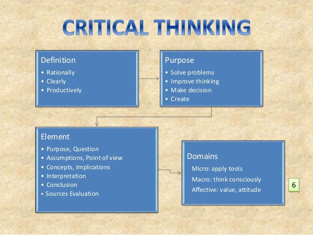 Richard paul elements of critical thinking