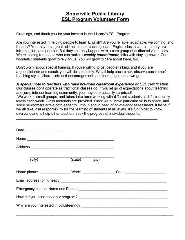 esl-volunteer-form-rev-mar-2014-1-638 Volunteer Application Form Public Liry on