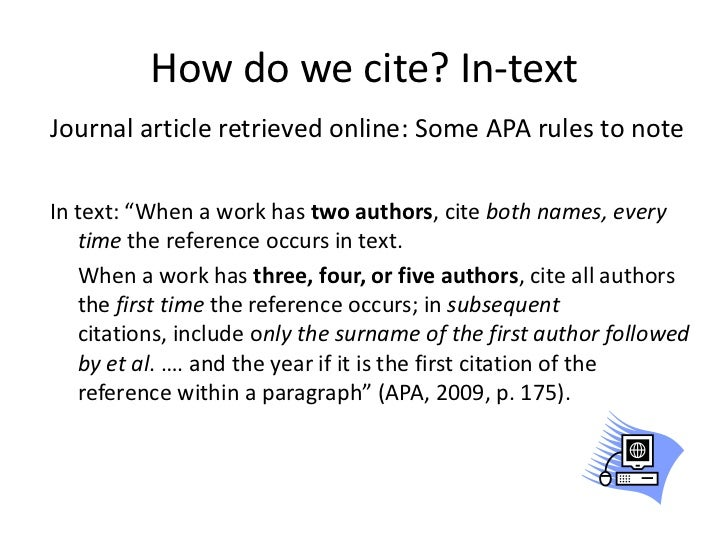 Q. How do I mention an article within an APA paper? Is it in quotes or italics?