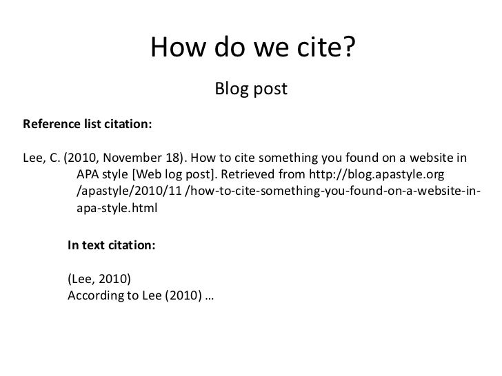 how do you cite a website in apa format If you use a citation creation tool like citationsy all you have to do is paste the link  and citationsy will automatically create the reference in any format you need.