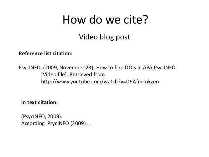 how to quote from a video