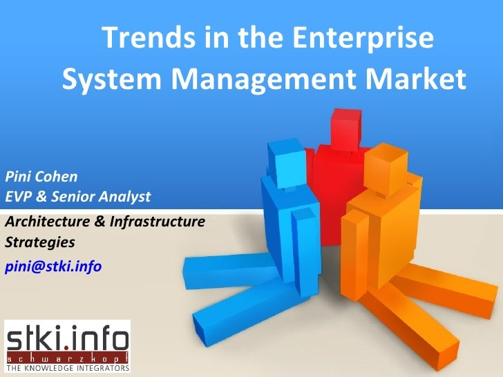 Trends in the Enterprise System Management Market  Pini Cohen EVP & Senior Analyst Architecture & Infrastructure Strategie...