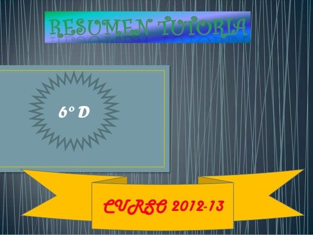 6º D       CURSO 2012-13