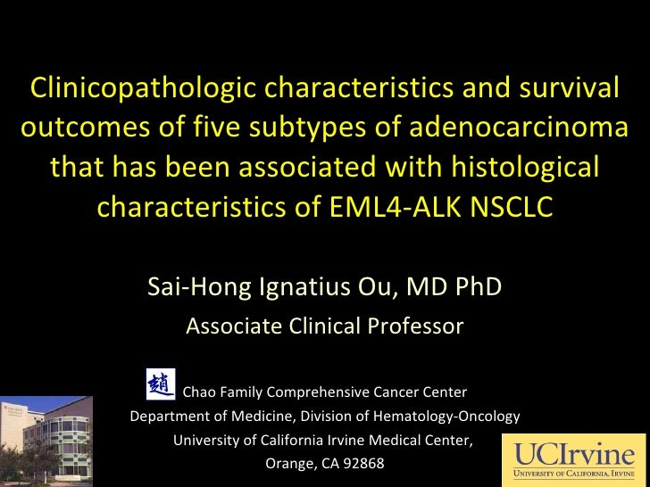 Clinicopathologic characteristics and survival outcomes of five subtypes of adenocarcinoma that has been associated with h...