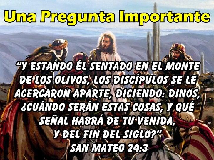 • Delincuencia                    S. Mateo           24:37; 25:12; Ezeq. 7:23 • Aumento del crimen        S.Mateo 24:12 • ...