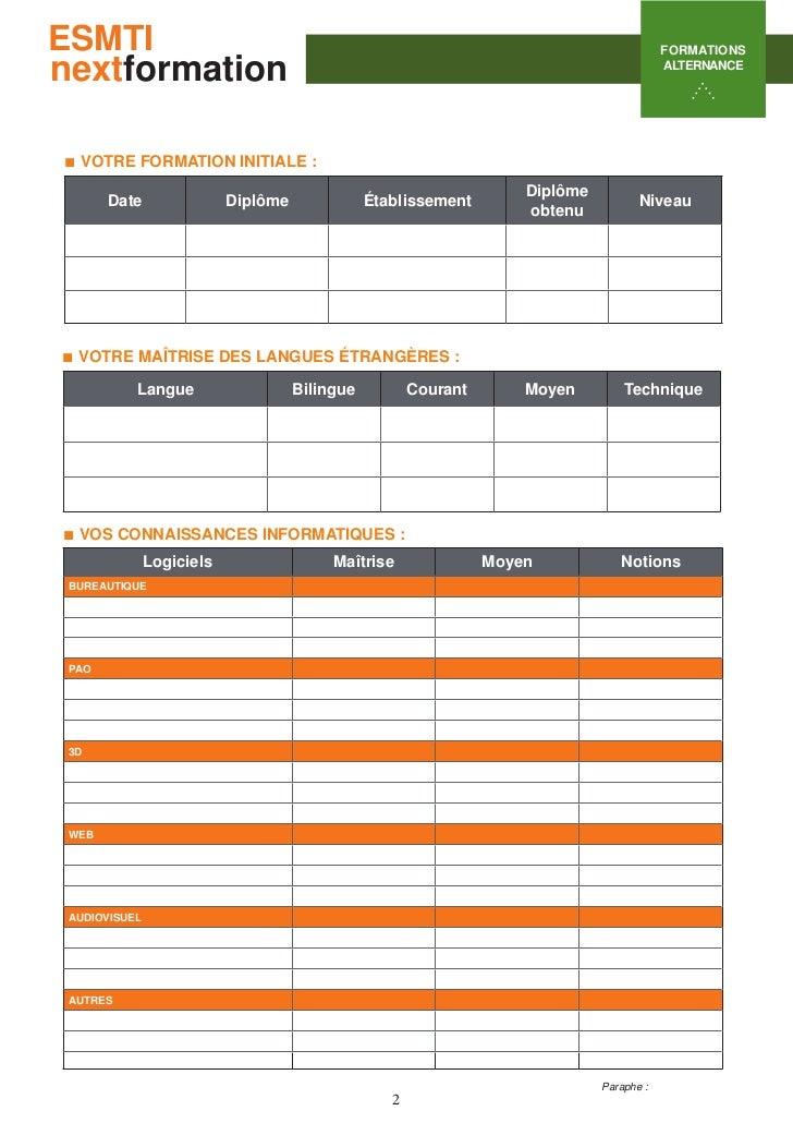 Esmti candidature formation alternance Slide 2