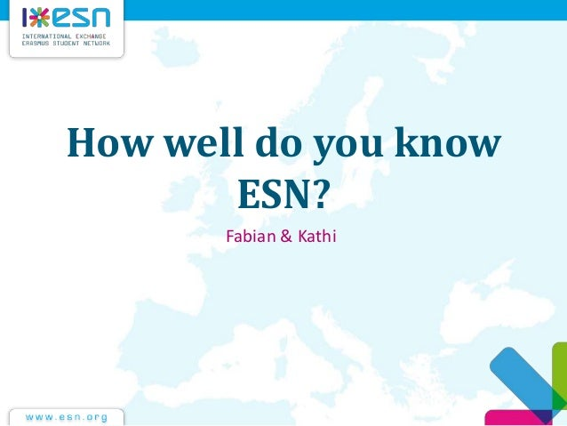 How well do you know ESN? Fabian & Kathi