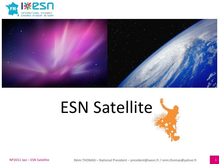 ESN Satellite NP2011 Iasi – ESN Satellite
