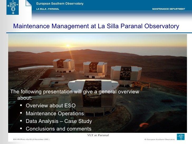 <ul><li>The following presentation will give a general overview about: </li></ul><ul><ul><li>Overview about ESO  </li></ul...