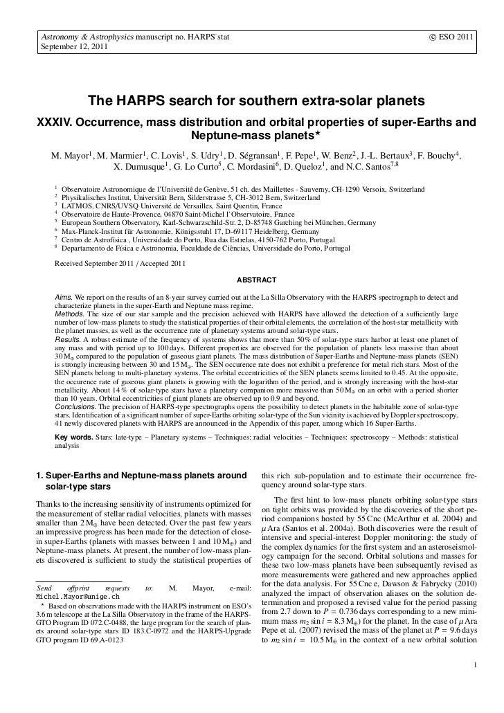 Astronomy & Astrophysics manuscript no. HARPS˙stat                                                                        ...