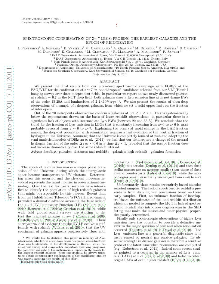 Draft version July 8, 2011                                               Preprint typeset using L TEX style emulateapj v. ...