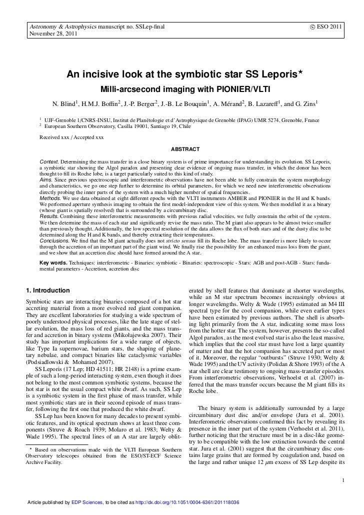 Astronomy & Astrophysics manuscript no. SSLep-final                                                                        ...