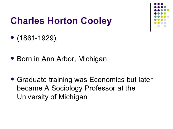 an introduction to the theory of charles horton cooley Pages 15–118 in charles h cooley, sociological theory and social research,  being the selected papers of charles horton cooley with an introduction and.