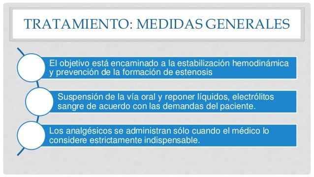 TRATAMIENTO: MEDIDAS GENERALES El objetivo está encaminado a la estabilización hemodinámica y prevención de la formación d...
