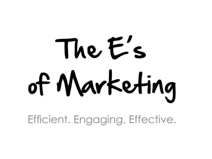 The E's of Marketing<br />Efficient, Engaging, Effective<br />
