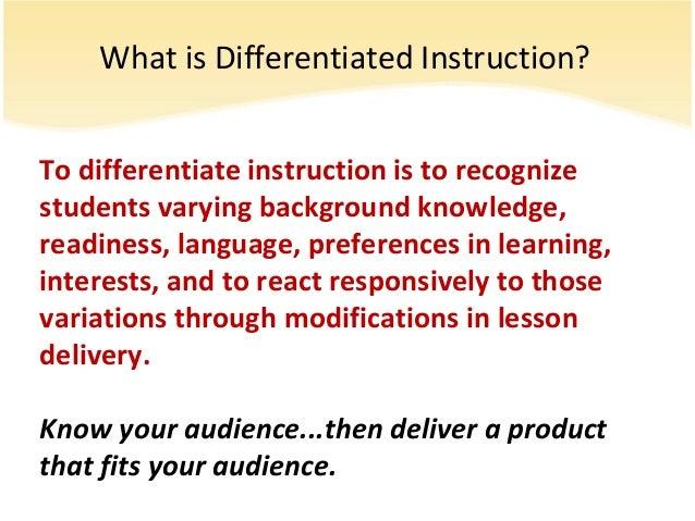 Esol Differentiated Instruction Presentation