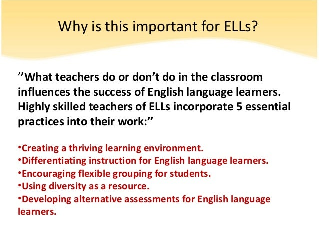 Esol Differentiated Instruction Presentation