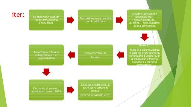 Destinazione gratuita fondi formazione a FonARcom Formazione tutor gratuita con FonARcom Attività di alternanza scuola/lav...