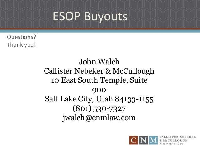 Employee stock options buyout