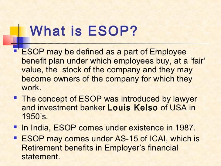 Accounting for employee stock options in india