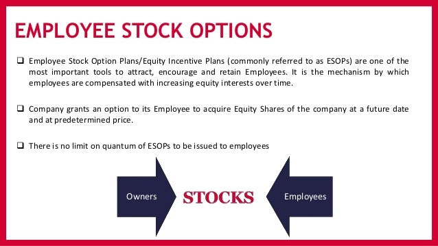 Employee stock options grant price