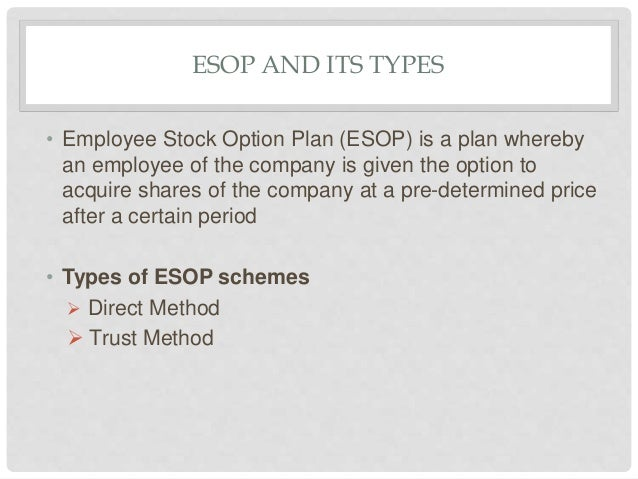 How do employee stock options work