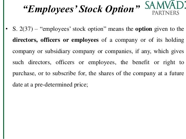 Employee stock options terms