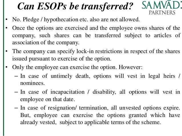 Exercising stock options after termination