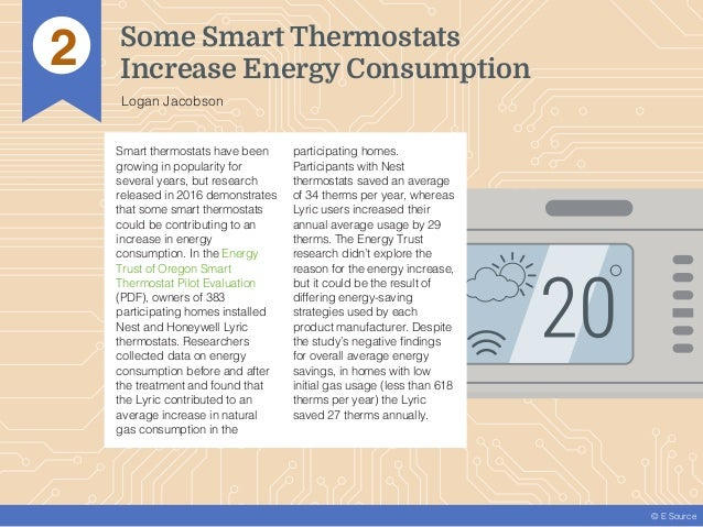 © E Source Smart thermostats have been growing in popularity for several years, but research released in 2016 demonstrates...