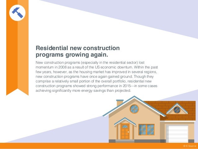 Residential new construction programs growing again. New construction programs (especially in the residential sector) lost...