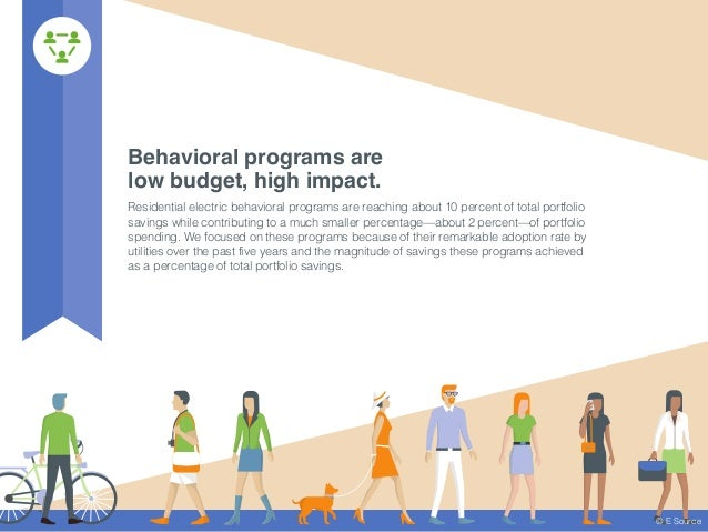 Behavioral programs are low budget, high impact. Residential electric behavioral programs are reaching about 10 percent of...