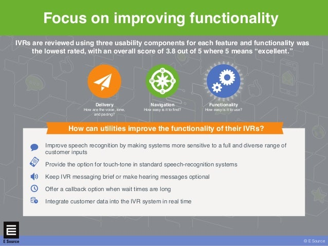 © E Sourcewww.esource.com Focus on improving functionality © E Source How can utilities improve the functionality of their...