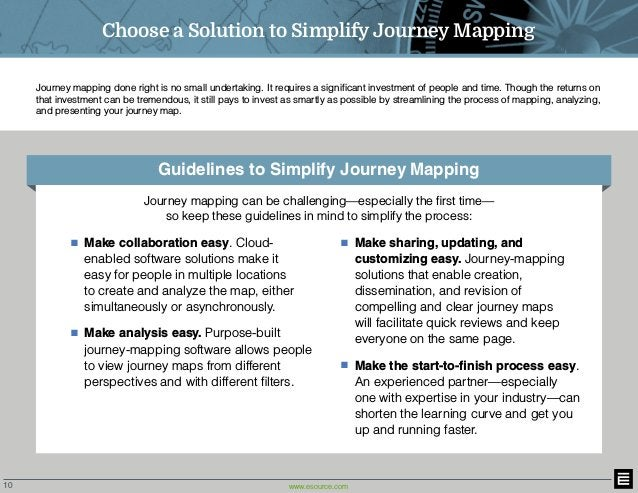 10 www.esource.com Journey mapping done right is no small undertaking. It requires a significant investment of people and ...