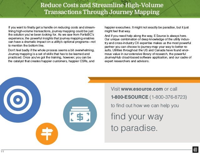 11 If you want to finally get a handle on reducing costs and stream- lining high-volume transactions, journey mapping coul...