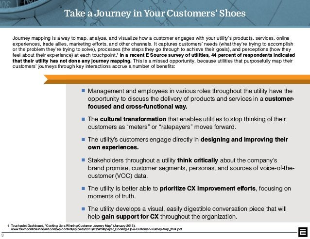3 Take a Journey in Your Customers' Shoes Journey mapping is a way to map, analyze, and visualize how a customer engages w...