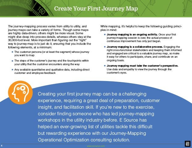 www.esource.com4 Create Your First Journey Map The journey-mapping process varies from utility to utility, and journey map...