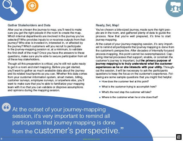 6 www.esource.com Gather Stakeholders and Data After you've chosen the journey to map, you'll need to make sure you get th...