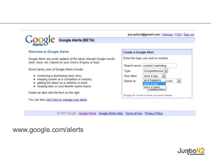 <ul><li>www.google.com/alerts </li></ul>