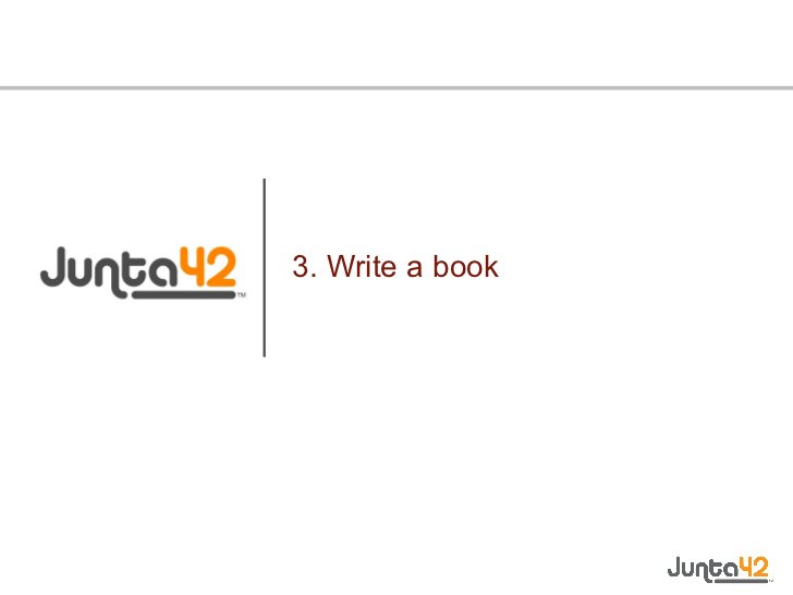 3. Write a book