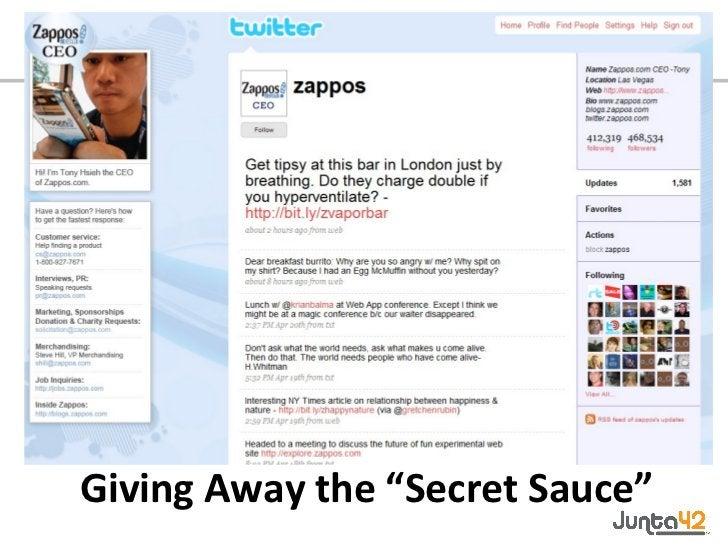 "Giving Away the ""Secret Sauce"""