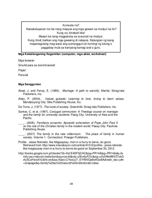 28 Mga Kakailanganing Kagamitan (computer, mga aklat, worksheet) Mga larawan Sinulid para sa bond bracelet Papel Panulat M...
