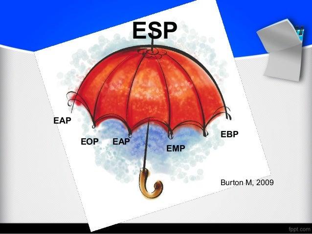 English for specific purposes esp eap ebp eop emp eap burton m 2009 ccuart Gallery