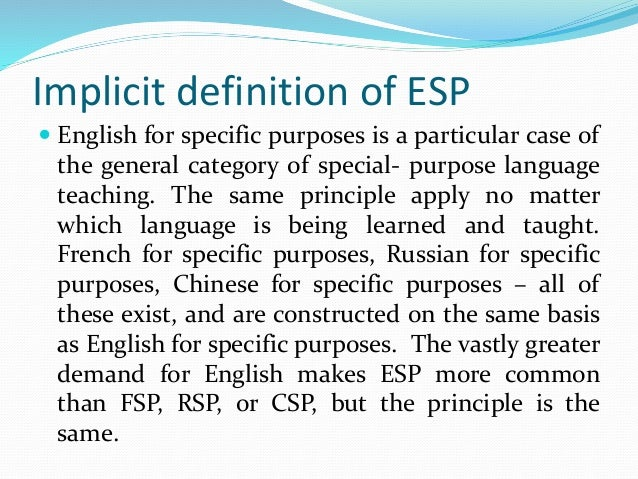 the definition of esp