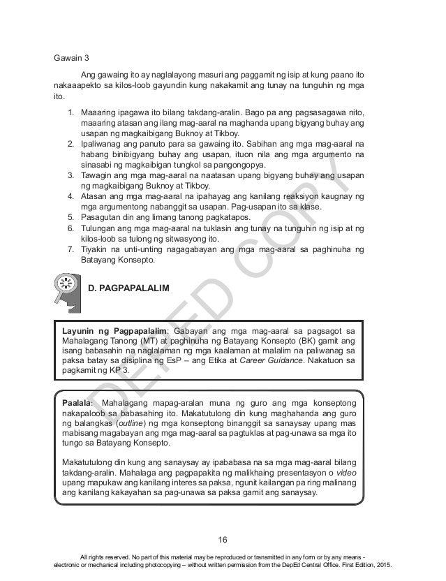 Esp 10 pagtuklas ng dating kaalaman brainly