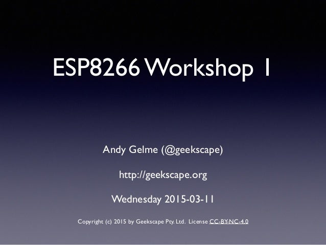NodeMCU ESP8266 workshop 1
