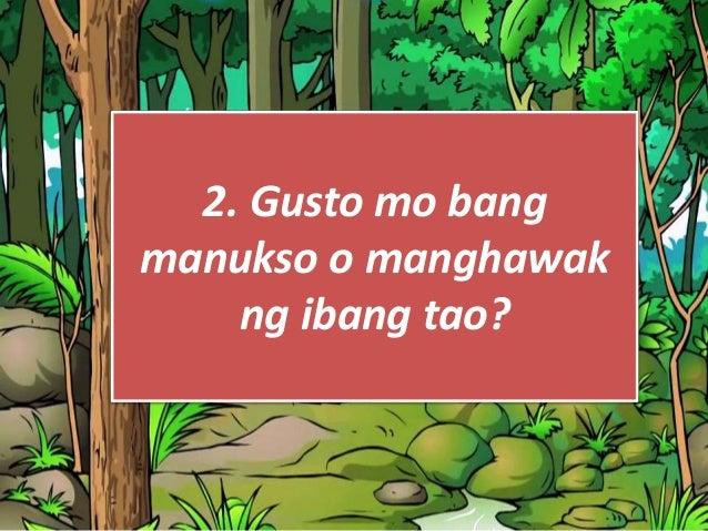 """Kapag ang nakuhang marka sa survey na """"Ikaw ba ay nambubulas?"""" ay; 1 hanggang 2- may potensyal na maging mambubulas sa hin..."""