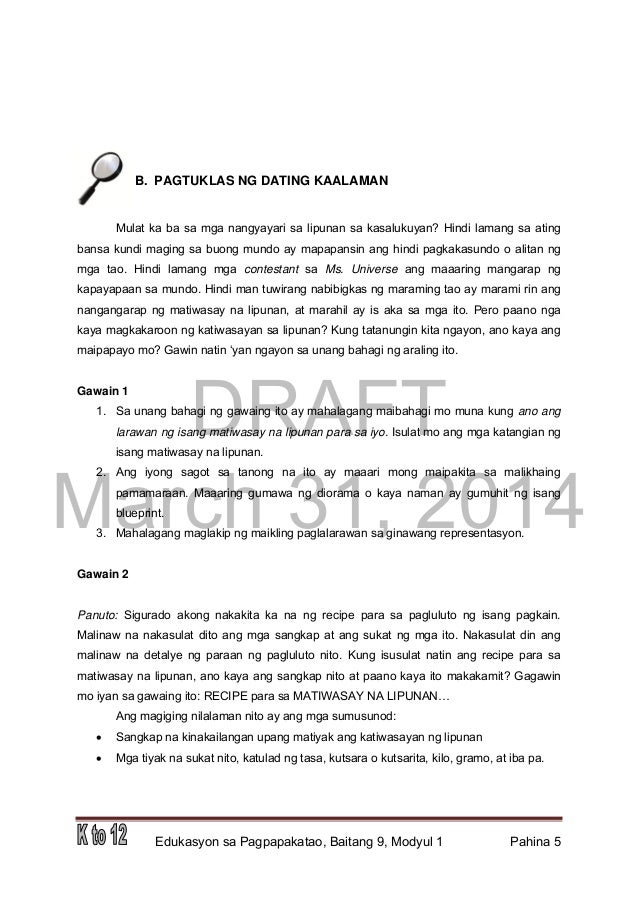 Esp Module Grade 9 4th Quarter Pdf